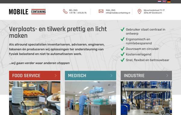 Vorschau von www.mobilecontaining.nl, Mobile Containing BV