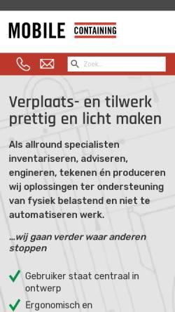 Vorschau der mobilen Webseite www.mobilecontaining.nl, Mobile Containing BV