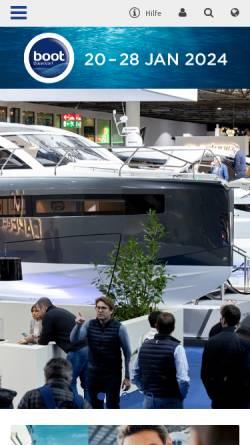 Vorschau der mobilen Webseite www.boot.de, Boot Düsseldorf