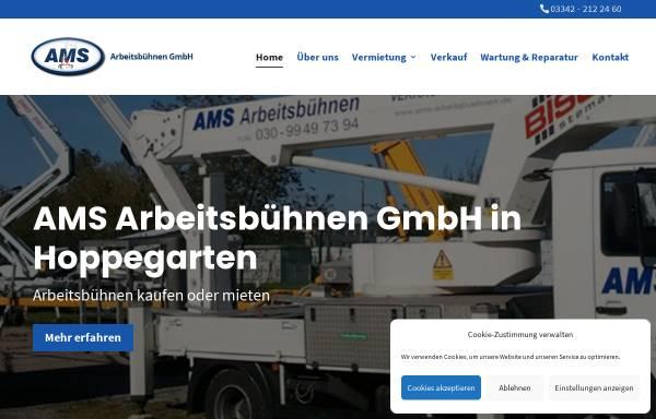 Vorschau von www.ams-arbeitsbuehnen.de, AMS Arbeitsbühnen GmbH