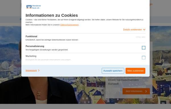 Vorschau von www.mendener-bank.de, Mendener Bank eG