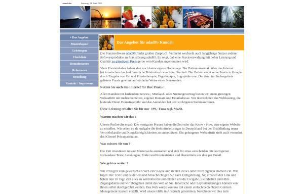 Vorschau von www.adad95.net, Praxis für Physiotherapie Sylvia Schneider-Korten