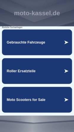 Vorschau der mobilen Webseite www.moto-kassel.de, Moto-Kassel Remscheid Lennep