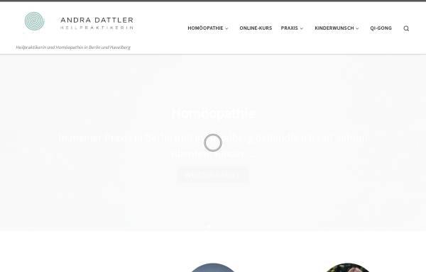 Vorschau von www.andra-dattler.de, Andra Dattler - Homöopathie und Kinderwunsch