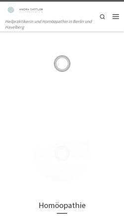 Vorschau der mobilen Webseite www.andra-dattler.de, Andra Dattler - Homöopathie und Kinderwunsch