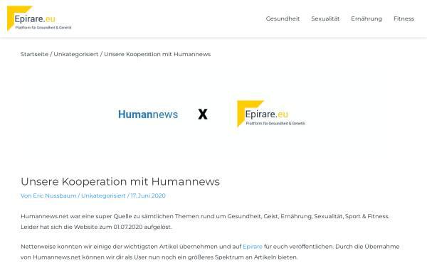 Vorschau von www.humannews.de, Humannews