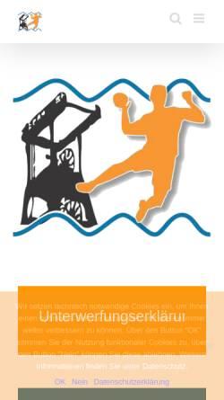 Vorschau der mobilen Webseite www.handballkreis-industrie.de, Handballkreis Industrie