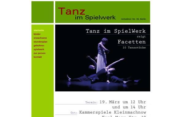Vorschau von www.tanz-im-spielwerk.de, Zeitgenössischer Tanz in Berlin-Zehlendorf