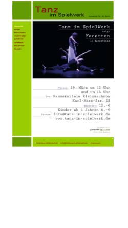 Vorschau der mobilen Webseite www.tanz-im-spielwerk.de, Zeitgenössischer Tanz in Berlin-Zehlendorf