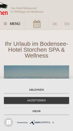 Vorschau der mobilen Webseite www.bodensee-familienhotel.de, Familien Hotel Storchennest Bodensee