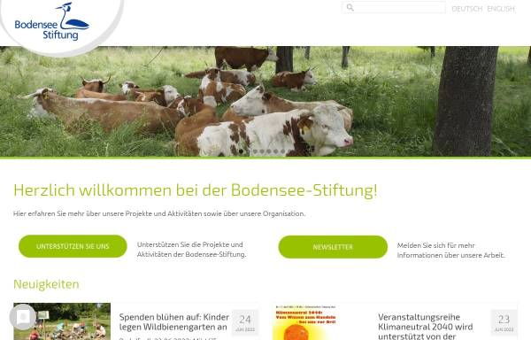Vorschau von www.bodensee-stiftung.org, Bodensee Stiftung