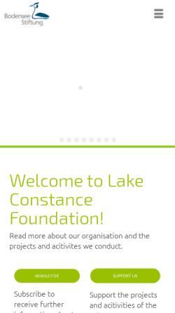 Vorschau der mobilen Webseite www.bodensee-stiftung.org, Bodensee Stiftung
