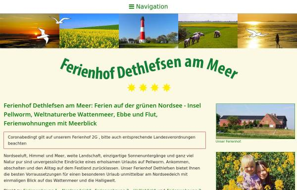 Vorschau von www.ferienhof-dethlefsen.de, Ferienhof Familie Dethlefsen