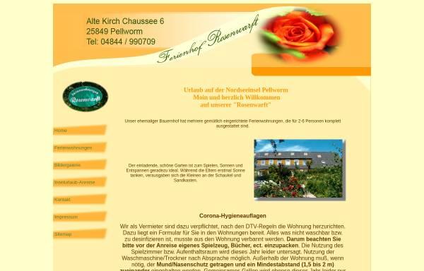 Vorschau von www.ferienhof-rosenwarft.de, Ferienhof Rosenwarft