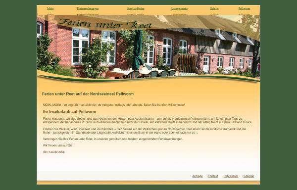 Vorschau von www.inselurlaub-ferienwohnungen.de, Ferienwohnungen Familie Aden