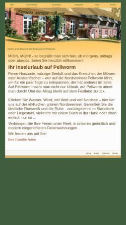 Vorschau der mobilen Webseite www.inselurlaub-ferienwohnungen.de, Ferienwohnungen Familie Aden