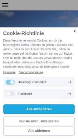 Vorschau der mobilen Webseite www.friesenhof-pellworm.de, Ferienwohnungen Familie Jansen