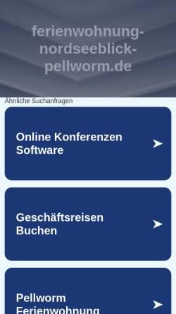 Vorschau der mobilen Webseite www.ferienwohnung-nordseeblick-pellworm.de, Fischrestaurant Nordseeblick und Ferienwohnungen Koch