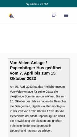 Vorschau der mobilen Webseite von-velen-anlage.de, Von-Velen-Anlage