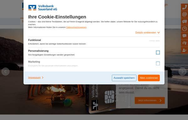Vorschau von www.volksbank-schmallenberg.de, Volksbank Schmallenberg eG