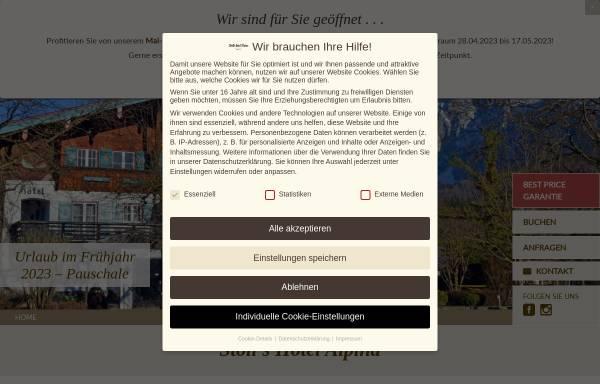 Vorschau von stolls-hotel-alpina.de, Stoll's Hotel Alpina