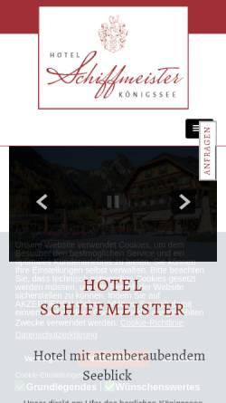 Vorschau der mobilen Webseite www.hotel-schiffmeister.de, Hotel Schiffmeister