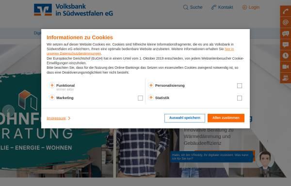 Vorschau von www.voba-si.de, Volksbank Siegerland eG
