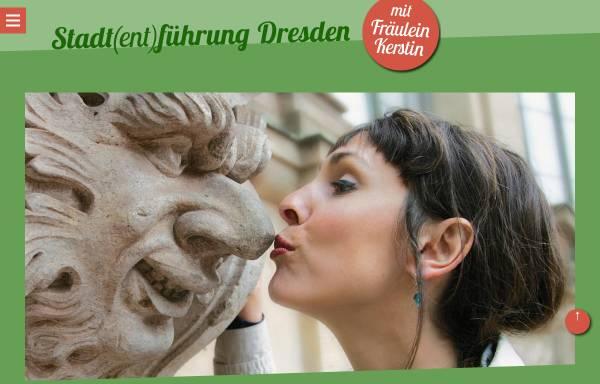 Vorschau von www.stadtfuehrung-dresden.de, Fräulein Kerstins Stadt(ent)führung