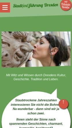 Vorschau der mobilen Webseite www.stadtfuehrung-dresden.de, Fräulein Kerstins Stadt(ent)führung