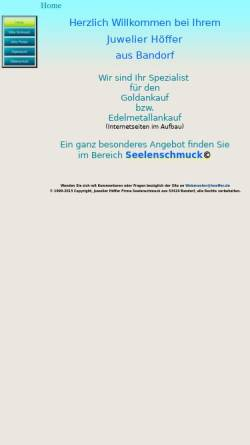 Vorschau der mobilen Webseite www.hoeffer.de, Juweliere Höffer