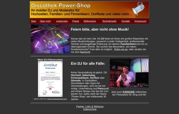 Vorschau von dj-power-shop.de, Discothek Power-Shop