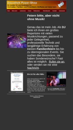 Vorschau der mobilen Webseite dj-power-shop.de, Discothek Power-Shop