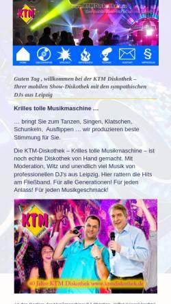 Vorschau der mobilen Webseite www.mobil-discothek-leipzig.de, Mobil Discothek Leipzig
