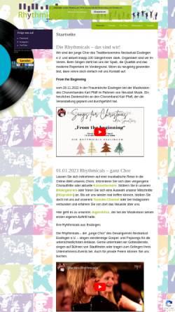 Vorschau der mobilen Webseite www.rhythmicals.de, Rhythmicals