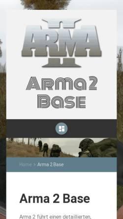 Vorschau der mobilen Webseite www.arma2base.de, Arma2Base