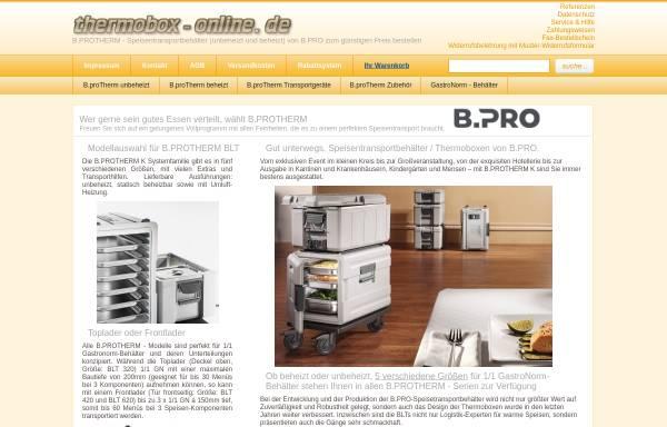 Vorschau von www.thermobox-online.de, Gastronomie Fachhandel Luboch