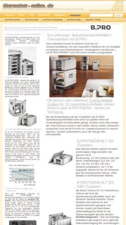 Vorschau der mobilen Webseite www.thermobox-online.de, Gastronomie Fachhandel Luboch