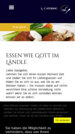 Vorschau der mobilen Webseite www.l-catering.de, Luft Catering