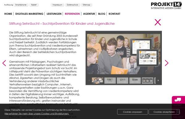Vorschau von www.projekt14.de, Stiftung SehnSucht