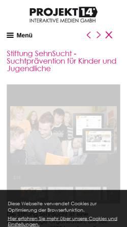 Vorschau der mobilen Webseite www.projekt14.de, Stiftung SehnSucht