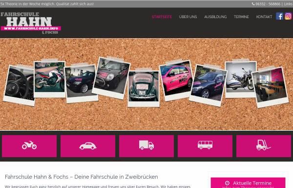 Vorschau von www.fahrschule-hahn.info, Fahrschule Hahn und Fochs