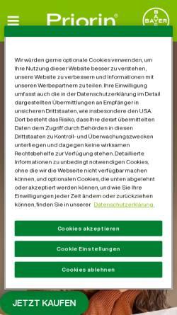Vorschau der mobilen Webseite priorin.de, Priorin