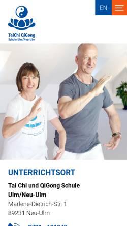 Vorschau der mobilen Webseite www.taichi.de, Ralph Heber und Elisabeth Wörsing