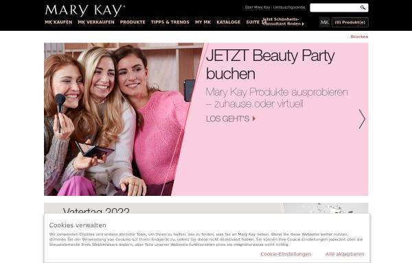Vorschau von www.marykay.de, Mary Kay Cosmetics GmbH