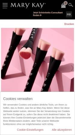 Vorschau der mobilen Webseite www.marykay.de, Mary Kay Cosmetics GmbH