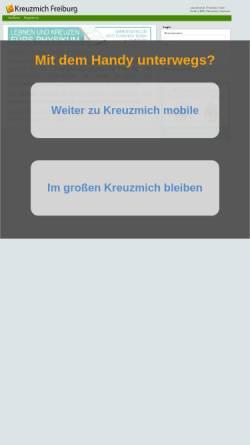 Vorschau der mobilen Webseite freiburg.kreuzmich.de, Cicil-Online