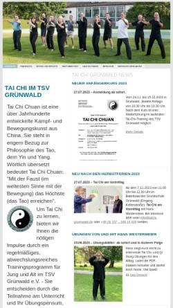 Vorschau der mobilen Webseite taichi-gruenwald.ch, Taichi Gürnwald