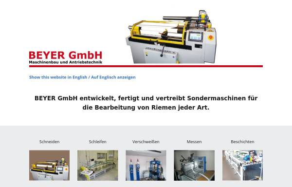 Vorschau von www.beyergmbh.de, Beyer GmbH - Maschinenbau und Antriebstechnik