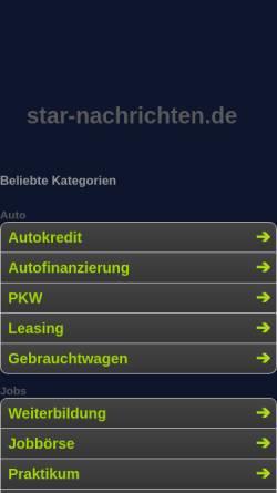 Vorschau der mobilen Webseite www.star-nachrichten.de, Star-Nachrichten.de