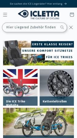Vorschau der mobilen Webseite www.icletta.com, Icletta GmbH